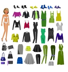 Woman clothes wardrobe vector