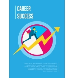 Career success banner with businessman vector