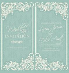 Wedding invitation or announcement card vector