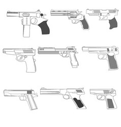 Firearms vector