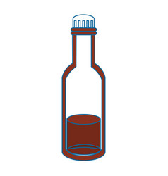 Bottle with liquid vector
