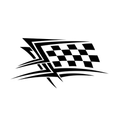 Racing sports tattoo vector image