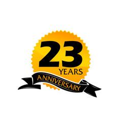 23 years ribbon anniversary vector image vector image