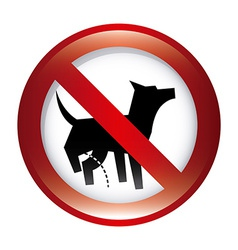 Forbidden dog design vector