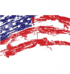 Usa grunge flag vector