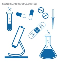 Medical supply icons set vector