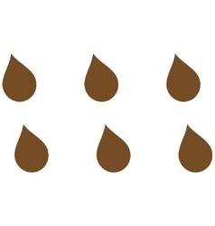 Drops flat symbol vector