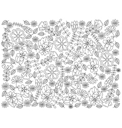 Floral ornament coloring book vector