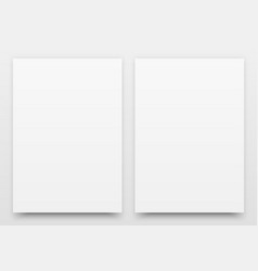 A2 white poster mock-up vector