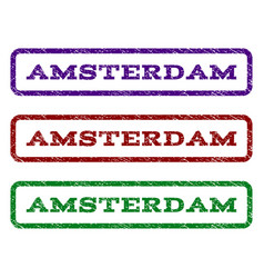 Amsterdam watermark stamp vector