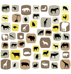 Animal abstract vector