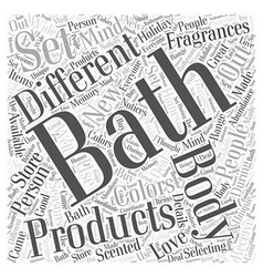 Bath and body word cloud concept vector