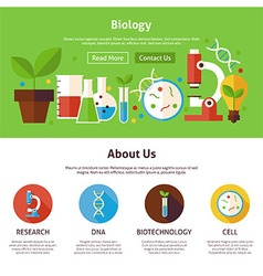 Biology science flat web design template vector