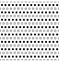 black and white square design vector image