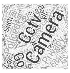 Cctv cameras word cloud concept vector