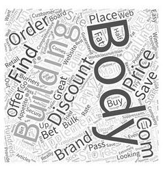 Discount Body Building Supplements Word Cloud vector image