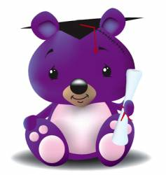 graduation teddy bear vector image vector image