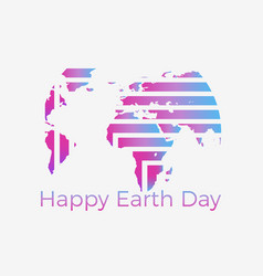 Happy earth day the creative logo of the planet vector