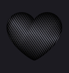 heart of interweaving lines isolated editable vector image vector image