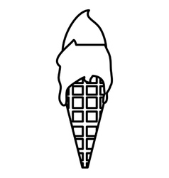 Ice cream delicious isolated icon vector