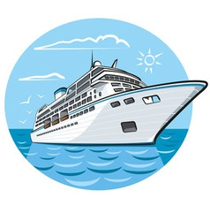 Luxury cruise ship vector