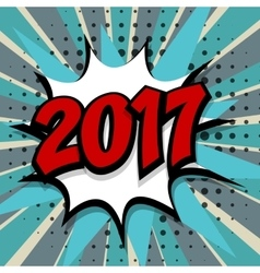 New year 2017 blue background vector