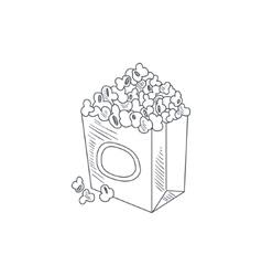 Pop Corn Hand Drawn Sketch vector image