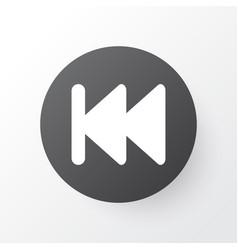 Previous icon symbol premium quality isolated vector