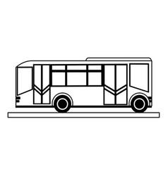 Public transportation bus icon image vector