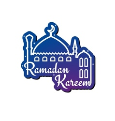 Ramadan kareem greeting card design template vector