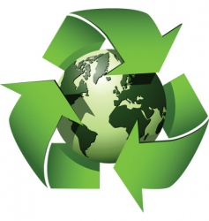 recycle globe vector image