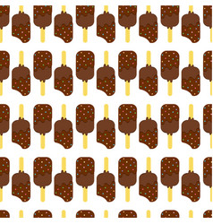 seamless colorful ice cream pattern vector image