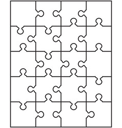separate parts of white puzzle vector image
