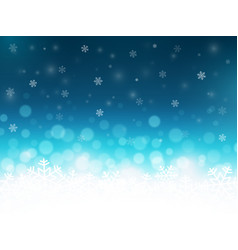 Snowflakes background with particles christmas vector