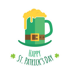 St patricks day greeting card design vector