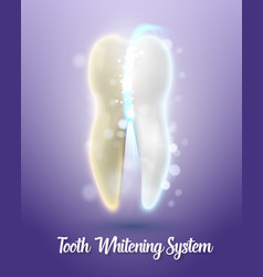teeth cleaning healthcare stomatology procedure vector image vector image