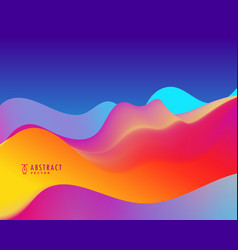 Trendy colorful background with wavy shapes vector