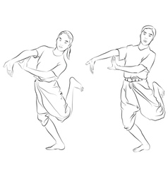 The thai national dances vector