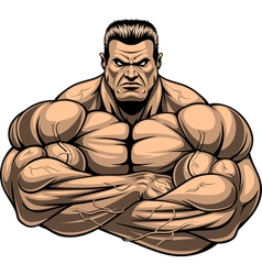 Bodybuilder strict coach vector image