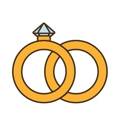 Diamond ring isolated icon vector