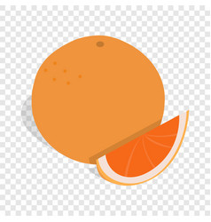 Grapefruit isometric icon vector