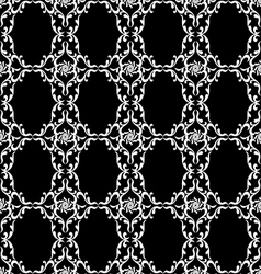 Black and white vintage seamless background vector image