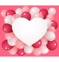 Heart with balloons vector image