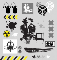 Grunge graphic objects vector