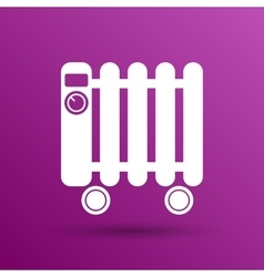 Typical heater filled radiator icon symbol vector