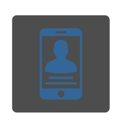 Mobile account icon vector