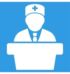 Health care official icon vector