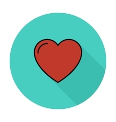 Heart icon vector
