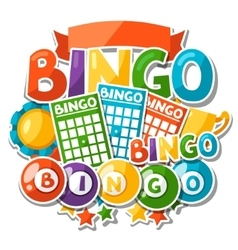 Bingo or lottery game background with balls and vector