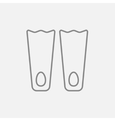 Flippers line icon vector